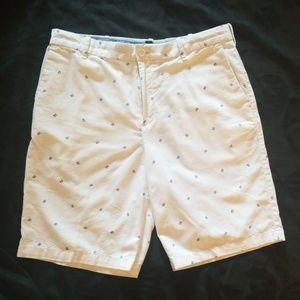 Izod Navy crab print lightweight shorts Mens 34